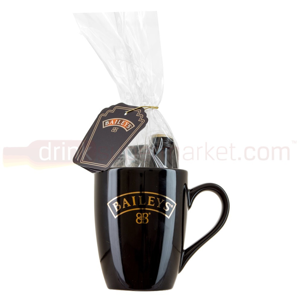 Baileys Original with Mug Hot Chocolate & Marshmallows 5cl Miniature Gift Pack