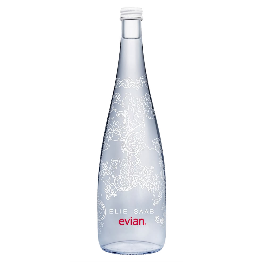 Image of Evian Limited Edition Elie Saab Sparkling Water 750ml