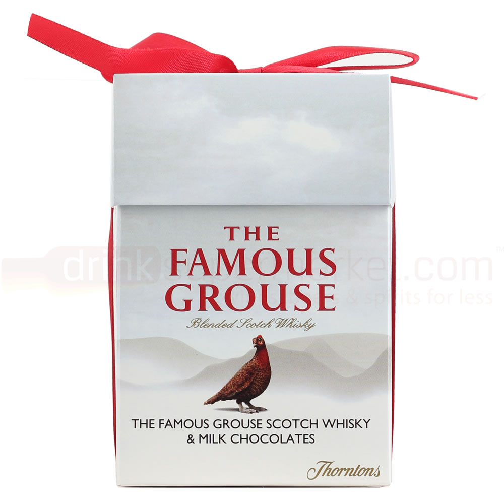 Famous Grouse Whisky 5cl Miniature & Thorntons Truffles Gift Box