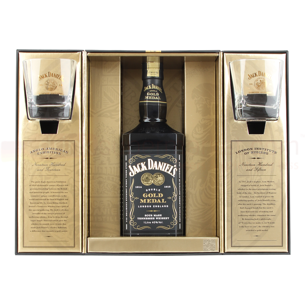 Jack Daniels Double Gold Medal Whiskey 1Ltr Limited Edition   Damaged