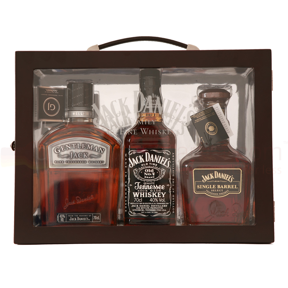 Jack Daniels Family Of Friends Whiskey 3x 70cl Gift Pack