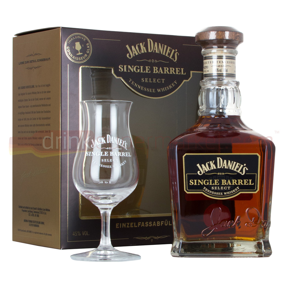 Jack Daniels Single Barrel Whiskey 70cl & Stem Glass Gift Set