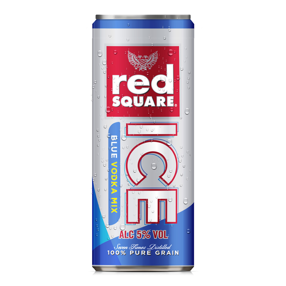 Image of Red Square Ice Blue Premixed Can 250ml