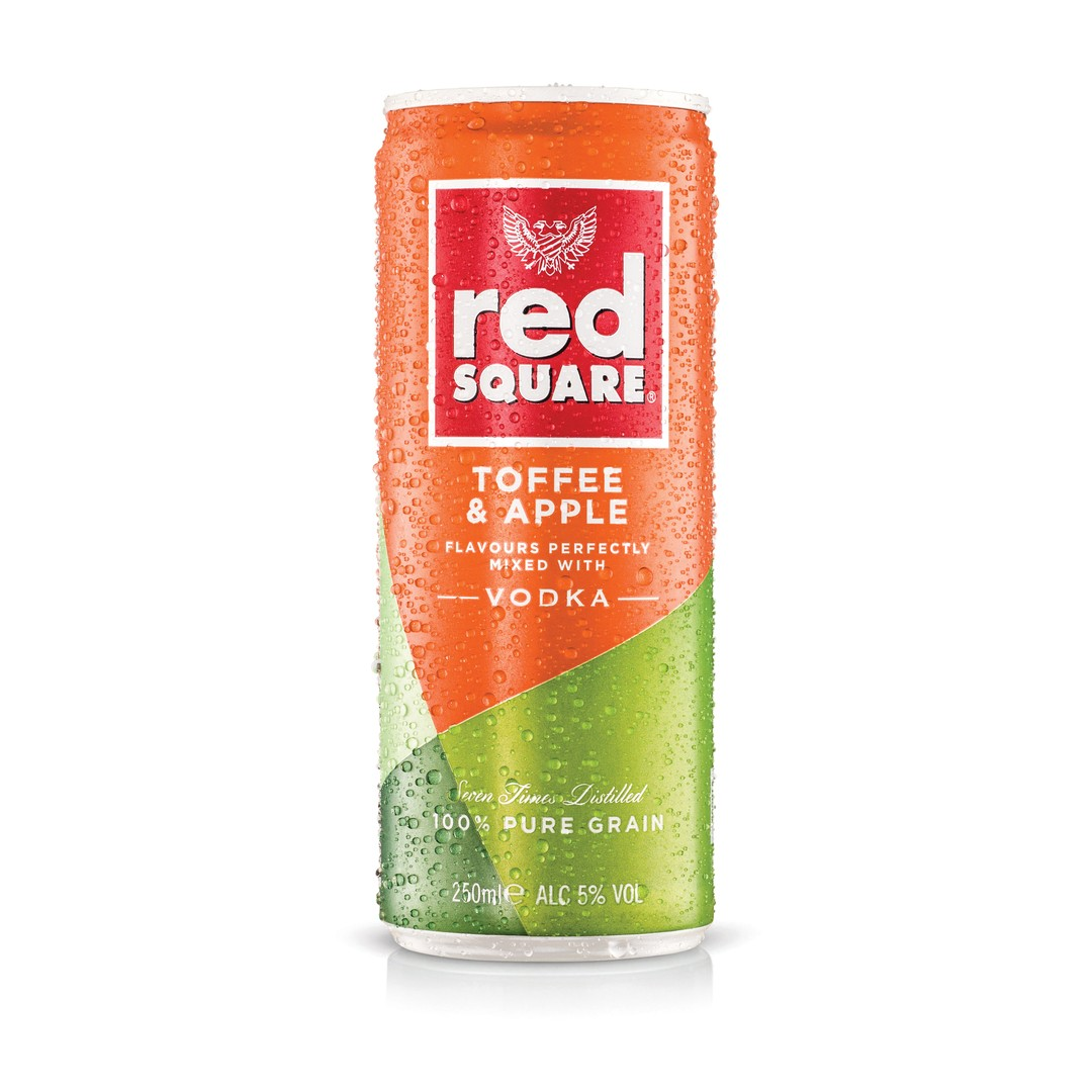 Image of Red Square Toffee Apple Premix Can 250ml