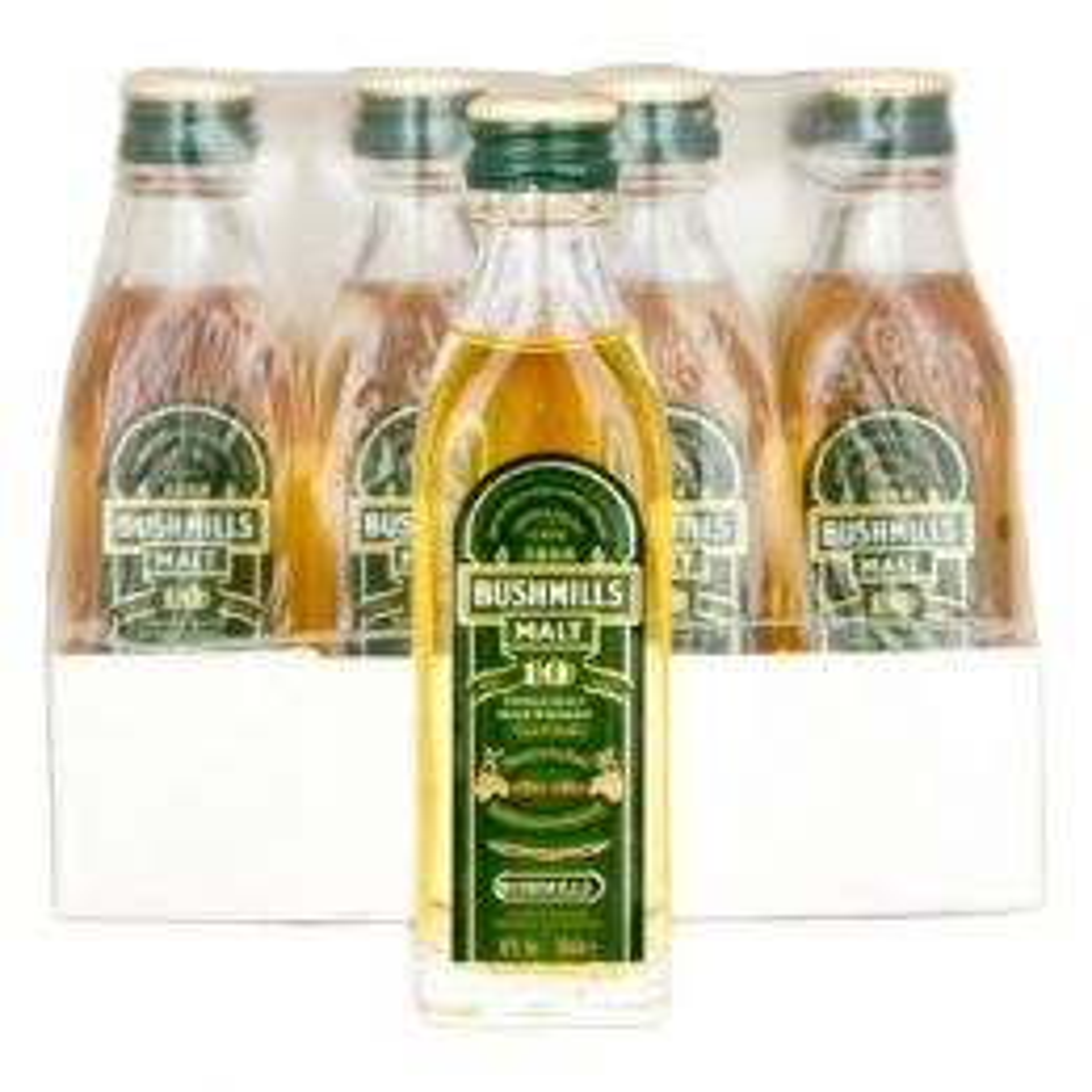 Bushmills 10 Year Irish Whiskey 12x 5cl Miniature Pack