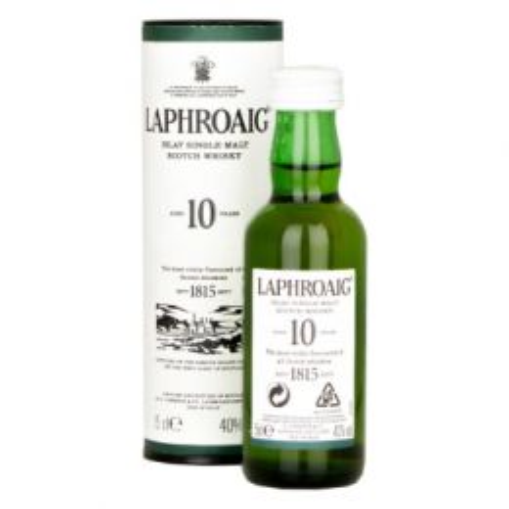 Laphroaig 10 Year Whisky 10x 5cl Minature Pack