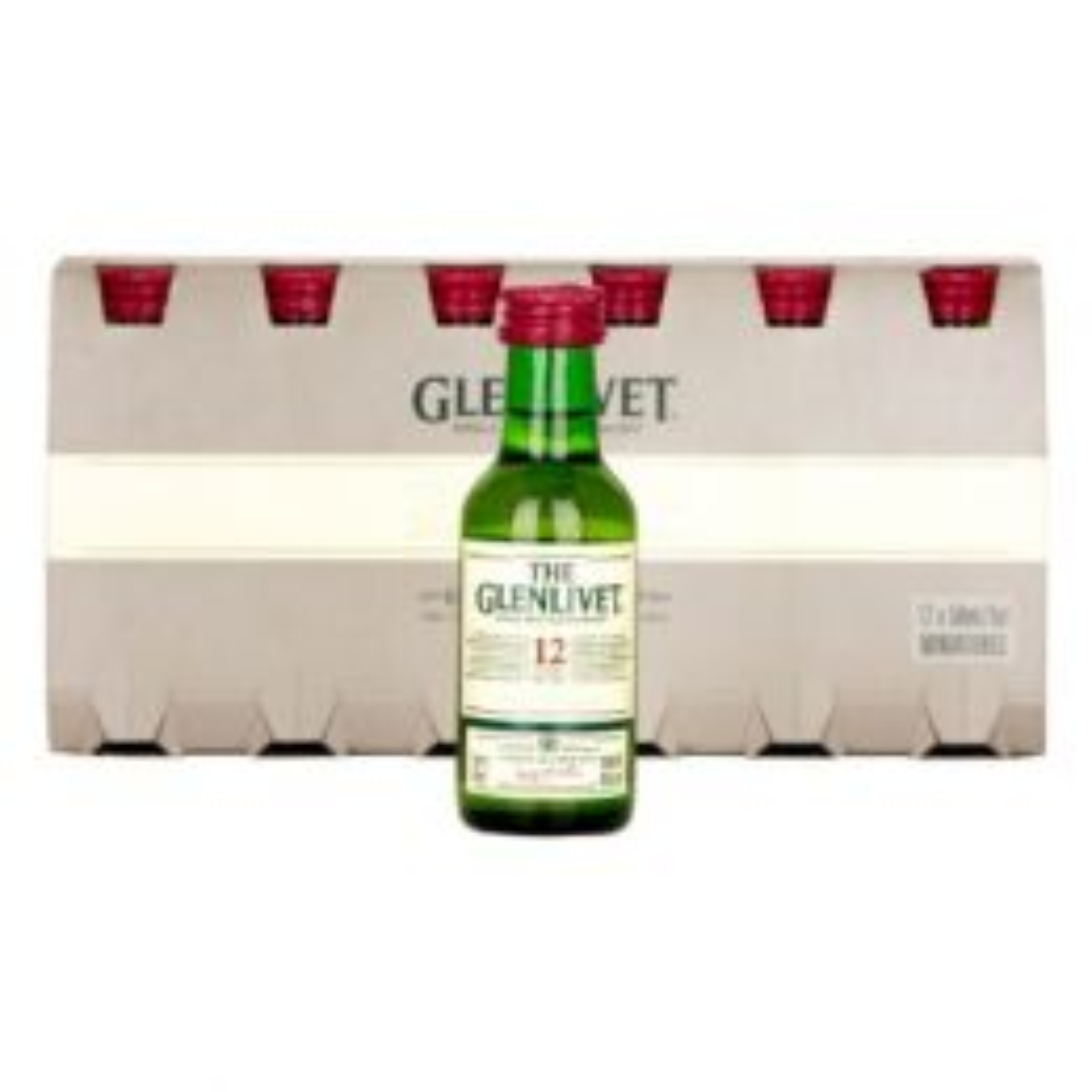 Glenlivet 12 Year Whisky 12x 5cl Miniature Pack