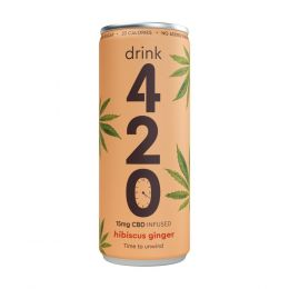 420 Hibiscus Ginger CBD Infused Drink 250ml