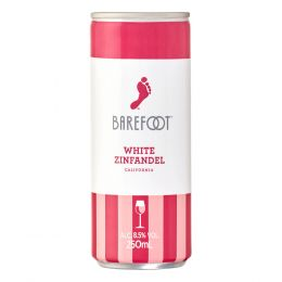Barefoot White Zinfandel Rose Wine 250ml Can