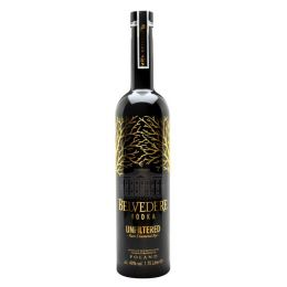 Belvedere Unfiltered Magnum Polish Plain Rye Vodka 1.75Ltr 40%
