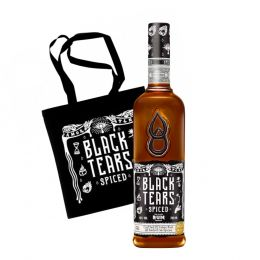 Black Tears Spiced Rum 70cl with Tote Bag