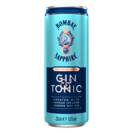 Bombay Sapphire Gin and Tonic 12x 250ml Cans