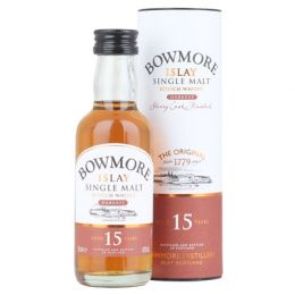 Bowmore Darkest 15 Year Whisky 12x 5cl Miniature Pack