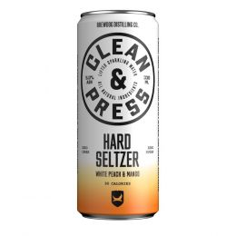 Brewdog Clean & Press Mango & Peach Hard Seltzer 330ml