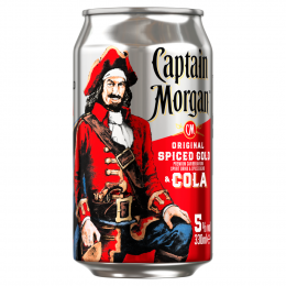 Captain Morgan Spiced Rum & Cola Premix 330ml