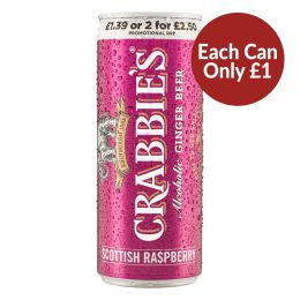 Crabbies Raspberry Ginger Beer 12x250ml