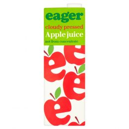 Eager Pressed Cloudy Apple Juice 8x 1Ltr