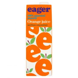 Eager Orange Smooth Juice 8x 1Ltr