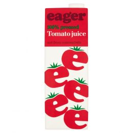 Eager Tomato Juice 8x 1Ltr