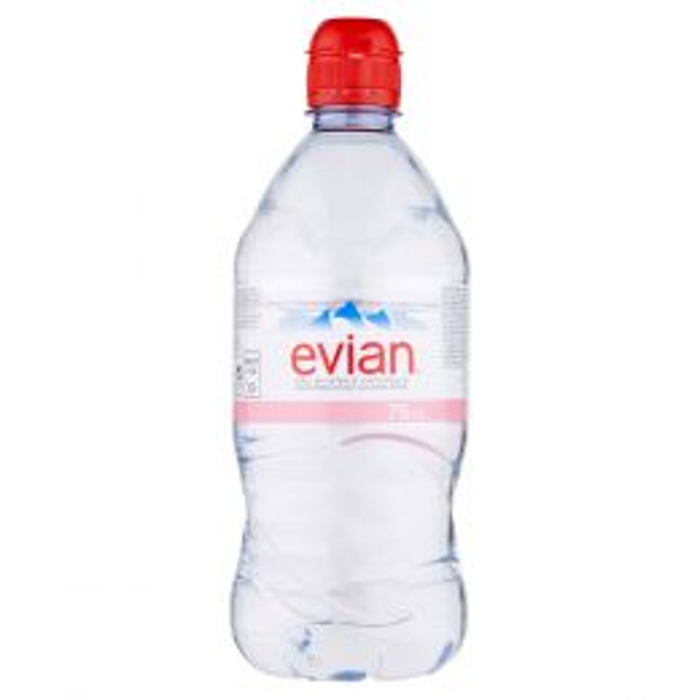 Evian Sports Cap Still Natural Mineral Water 12x75cl