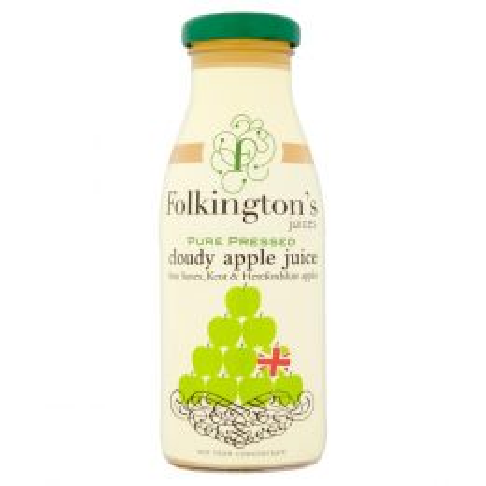 Folkington's Cloudy Apple Juice 12x 250ml