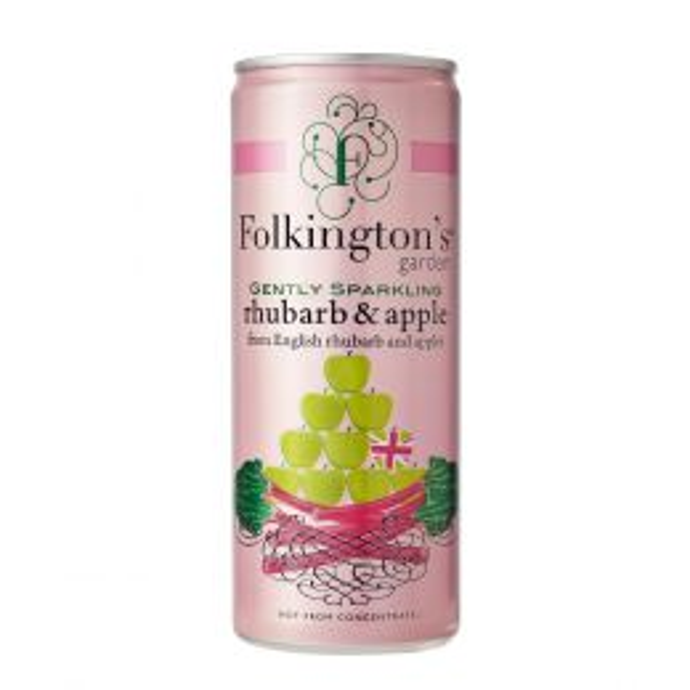 Folkington's Rhubarb & Apple Sparkling Presse 12x 250ml