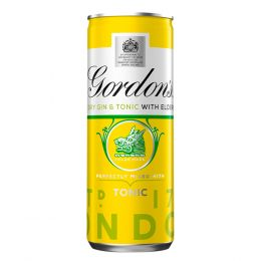 Gordons Gin, Tonic & Elderflower Premix 250ml