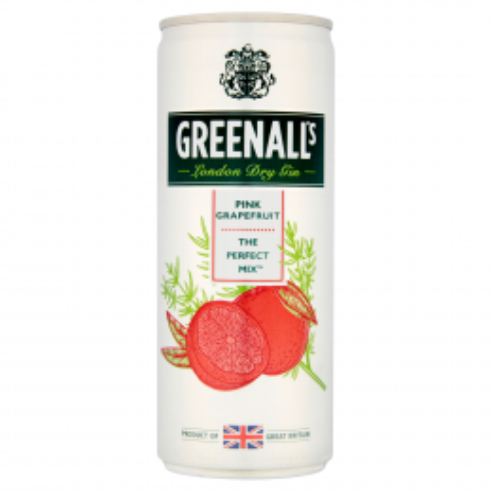 Greenall's Gin & Pink Grapefruit Tonic 250ml