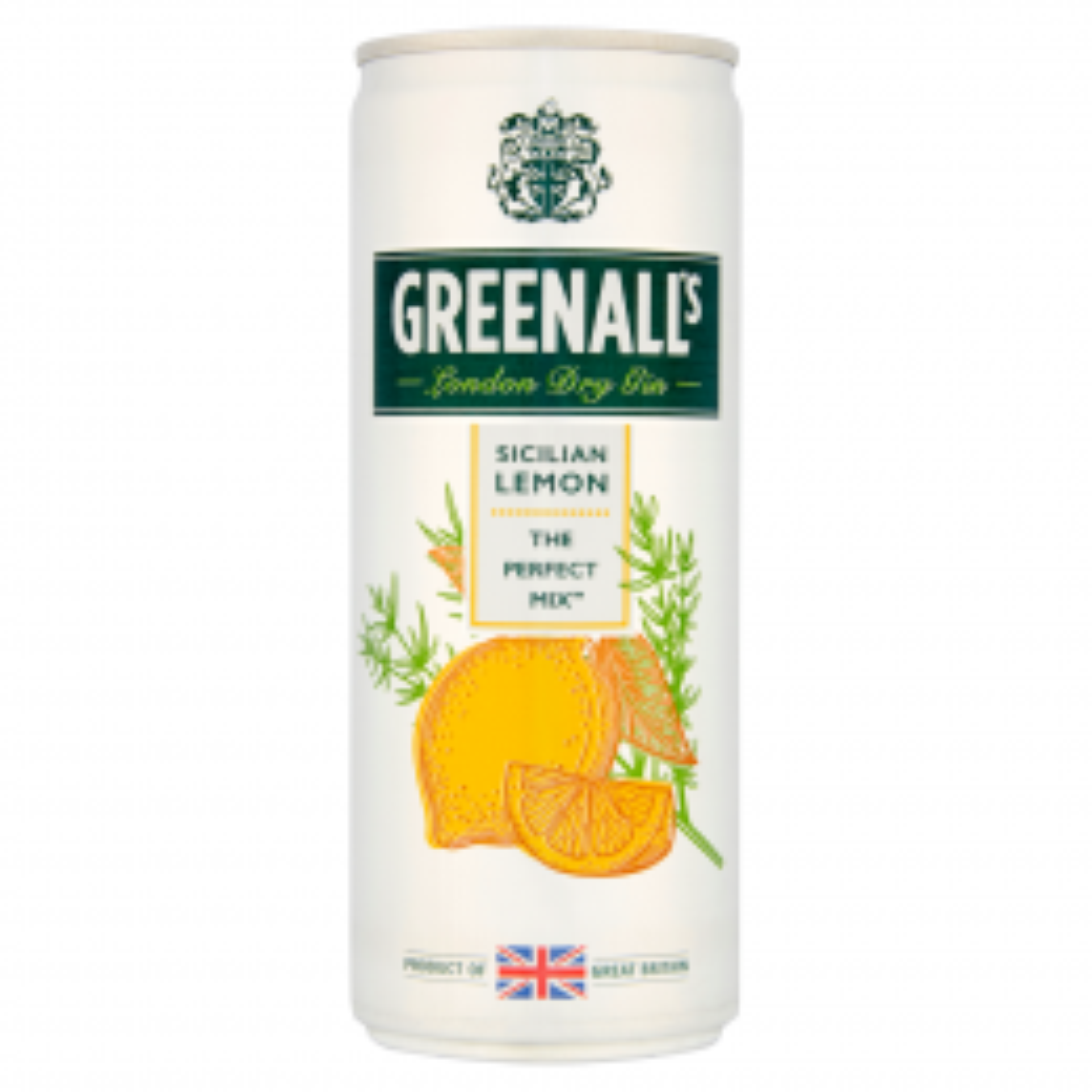 Greenall's Gin & Sicilian Lemon Tonic 250ml