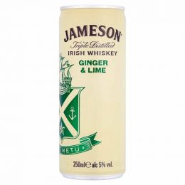 Jameson Irish Whiskey Ginger & Lime 250ml Can