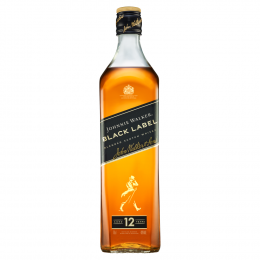Johnnie Walker Black Label 12 Year Whisky 70cl with Glasses