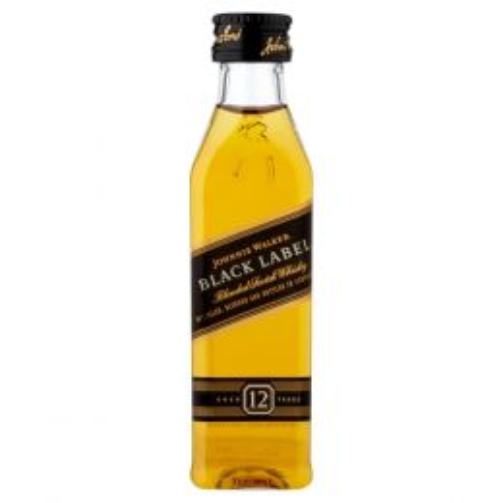 Johnnie Walker Black Label 12 Year Whisky 5cl Miniature