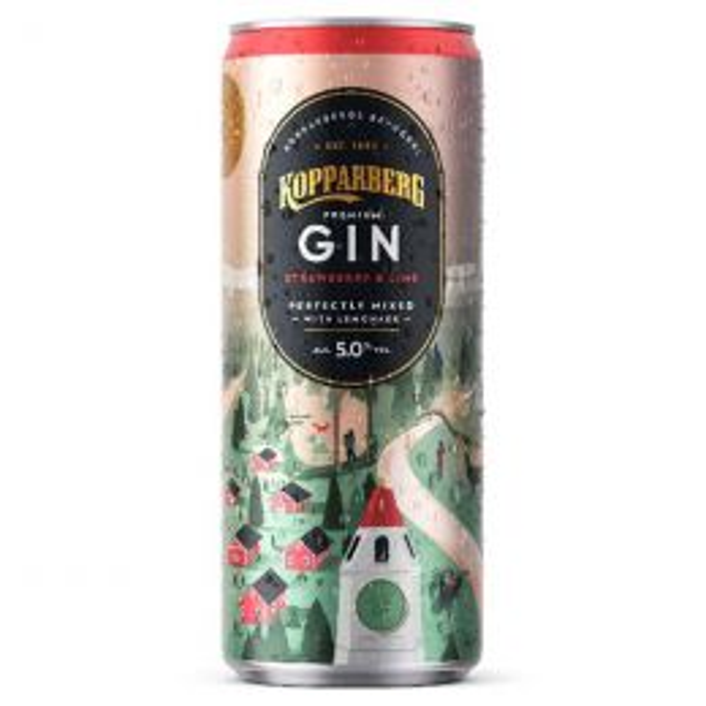 Kopparberg Strawberry & Lime Premixed Gin and Lemonade 250ml