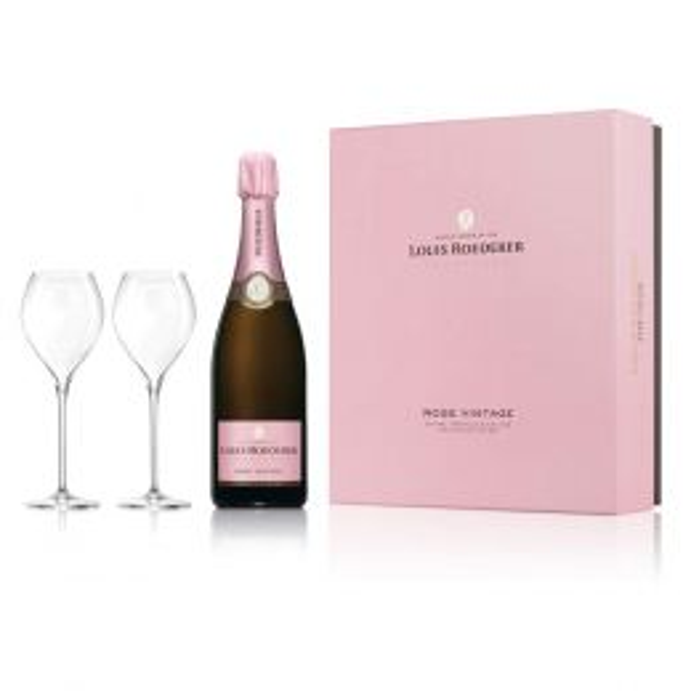 Louis Roederer Vintage Rose Champagne 75cl Gift Set