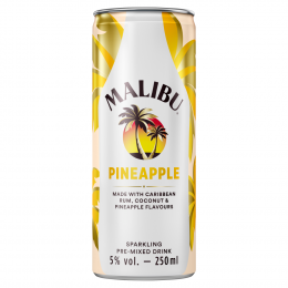 Malibu Rum and Pineapple 250ml Can