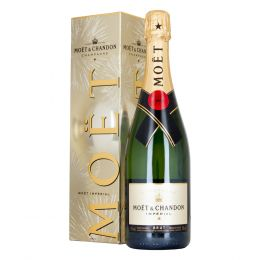 Moet & Chandon Imperial Brut Champagne 75cl Silver Gift Box