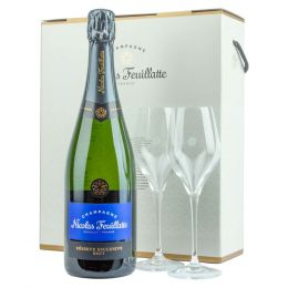 Nicolas Feuillatte Reserve Exclusive Brut NV Champagne 75cl Gift Set
