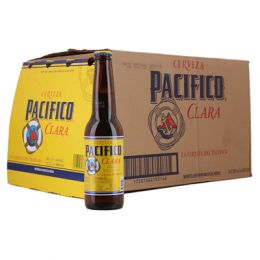 Pacifico Clara Mexican Beer 24 x 330ml NRB Bottle Case