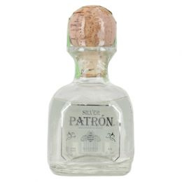 Patron Silver Mexican Blanco Tequila 5cl Miniature Bottle