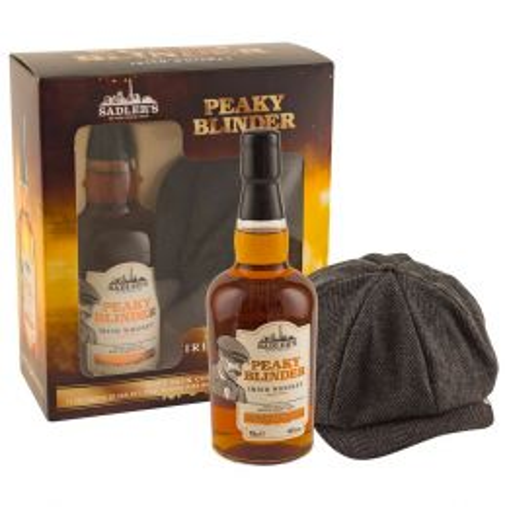 Peaky Blinder Irish Whiskey 70cl with Gatsby Cap