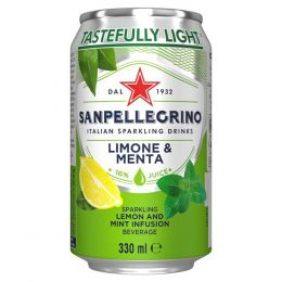 San Pellegrino Lemon & Mint 24x 330ml Cans