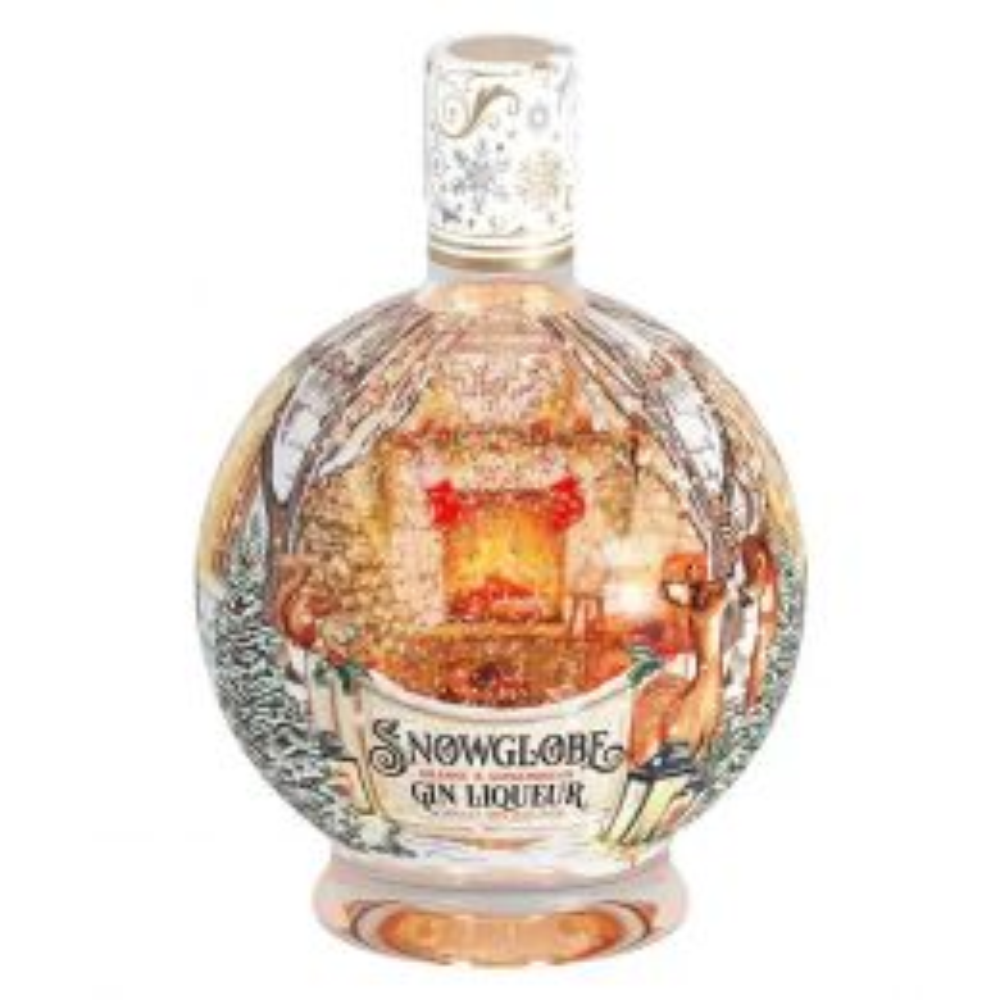 Snow Globe Orange & Gingerbread Gin Liqueur 70cl Front
