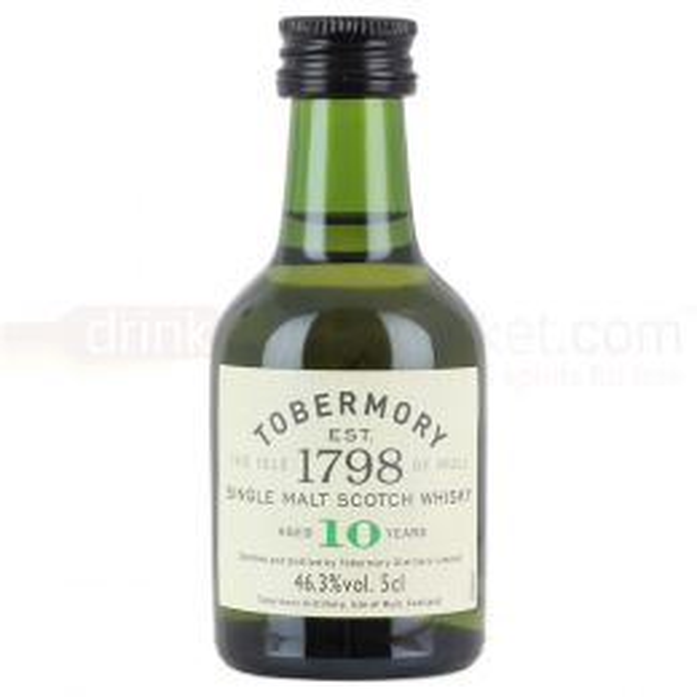 Tobermory 10 yo Single Island Malt Scotch Whisky Miniature 5cl