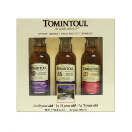 Tomintoul Collection of Whiskies 3x 5cl Miniature Taster Gift Pack