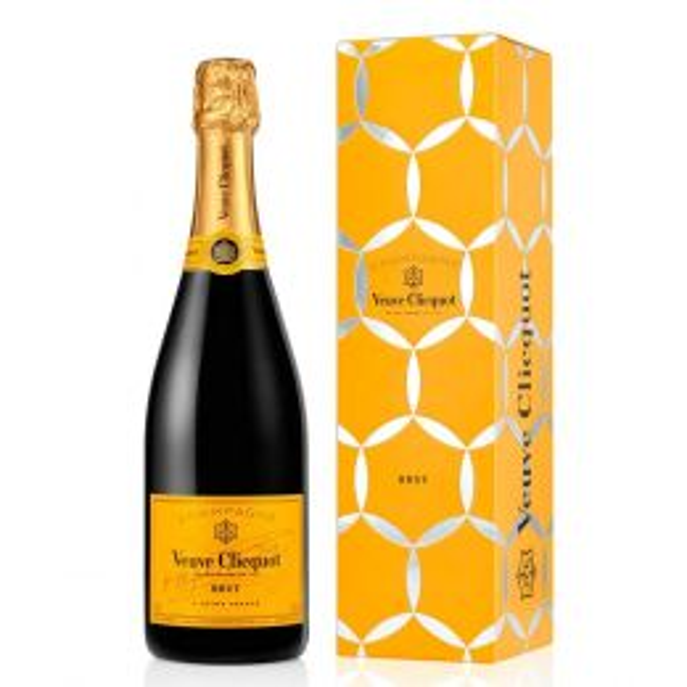 Veuve Clicquot Ponsardin Yellow Label Brut Champagne 75cl Comet Gift Box