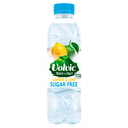 Volvic Touch Of Fruits Sugar Free Lemon & Lime Water 12x 500ml