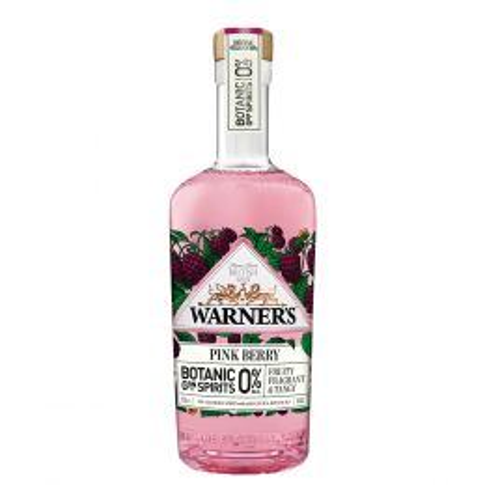 Warner's Pink Berry Botanic Non-Alcoholic Spirit 50cl