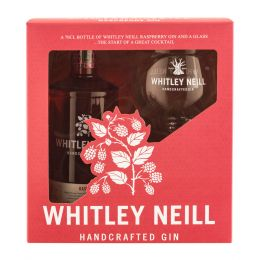 Whitley Neill Raspberry Gin 70cl Gift Pack