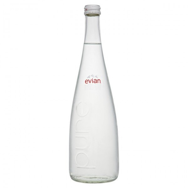 0016896e24 Evian Still Natural Mineral Water 12x75cl Glass Bottle - DrinkSupermarket