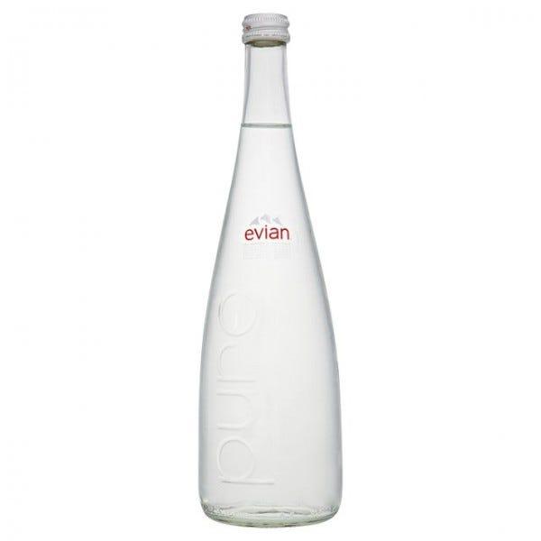 Evian Still Natural Mineral Water 12x75cl Glass Bottle